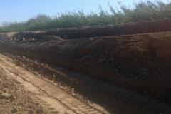 Ejecucion de tareas de extraccion, trasporte de suelo, relleno y compactacion sobre camino de servicio 1