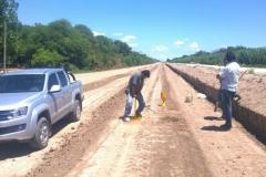 Ejecucion de tareas de extraccion, trasporte de suelo, relleno y compactacion sobre camino de servicio. Etapa de trabajo 2