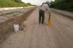 Ejecucion de tareas de extraccion, trasporte de suelo, relleno y compactacion sobre camino de servicio. Etapa de trabajo 3