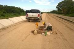 Ejecucion de tareas de extraccion, trasporte de suelo, relleno y compactacion sobre camino de servicio. trabajo concluido
