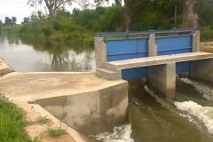 Finalizacion de obra de regulacion. Canal Pinto. Trabajos Concluido 2