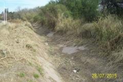 Limpieza zona de Camino de los Canales San Martin, Contreras Lopez y Maco Manogasta 20 2015