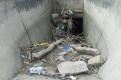 Limpieza sifones en canales Contrera Lopez y Maco Manogasta - Vista anterior 4 2015