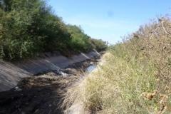 Vista del canal Maco-Manogasta antes de la limpieza de solera
