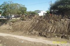 Limpieza del Canal San Martin en el Sector Urbano - Etapa de trabajo vista 1 2015