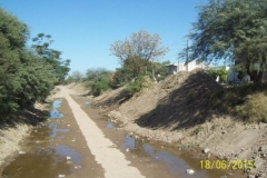 Limpieza del Canal San Martin en el Sector Urbano - Etapa de trabajo vista 2 2015