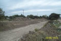 Limpieza del Canal San Martin en el Sector Urbano - Etapa de trabajo vista 5 2015