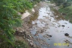 Limpieza del Canal San Martin en el Sector Urbano - estado del tramo vista 1 2015