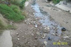 Limpieza del Canal San Martin en el Sector Urbano - estado del tramo vista 3 2015