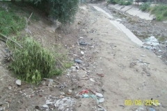 Limpieza del Canal San Martin en el Sector Urbano - estado del tramo vista 4 2015