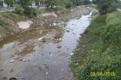 Limpieza del Canal San Martin en el Sector Urbano - estado del tramo vista 5 2015