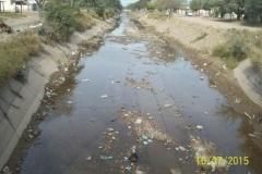 Limpieza del Canal San Martin en el Sector Urbano - trabajos concluidos vista 2 2015