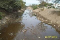Limpieza del Canal San Martin en el Sector Urbano - trabajos concluidos vista 3 2015