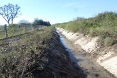 Vista del canal Contrera Lopez despues de Limpieza manual de solera en Los Cardozo, Dpto. Capital 2