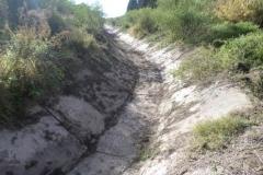 Vista del canal Contrera Lopez despues de Limpieza manual de solera en Los Cardozo, Dpto. Capital 4
