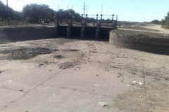Mantenimiento general del Canal Matriz - Barrera 4, obra de Toma de Canal Suri Pozo y Jume esquina despues de limpieza 2007 2