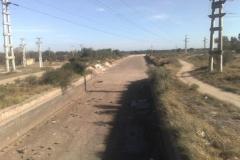 Mantenimiento general del Canal Matriz - vista antes de la limpieza de basura y extraccion de la vegetacion 2011