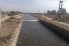 Mantenimiento general del Canal Matriz - vista despues de la limpieza de basura y extraccion de la vegetacion 2011