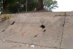 Mantenimiento general del Canal Matriz - losas de taludes deterioradas