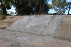 Mantenimiento general del Canal Matriz - reconstruccion de losas de taludes