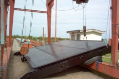 Dique Los Quiroga - Provision y Montaje de compuertas de servicio del desrripiador aguas arriba puente de ante toma