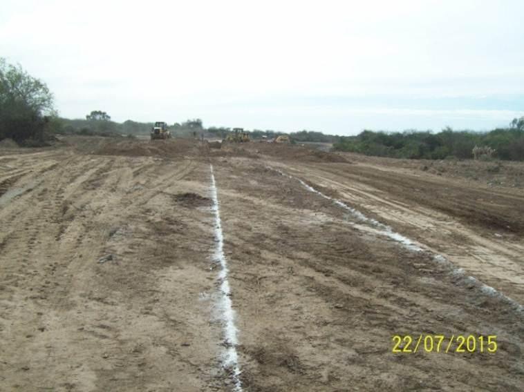 Revestimiento del canal San Martin - etapa de trabajo 6