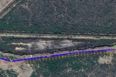 Revestimiento del canal San Martin - Traza del Canal Proyectado