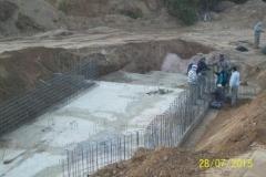 Revestimiento del canal San Martin - etapa de trabajo 10