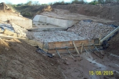 Revestimiento del canal San Martin - etapa de trabajo 12
