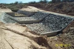 Revestimiento del canal San Martin - etapa de trabajo 13