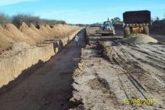 Revestimiento del canal San Martin - etapa de trabajo 8