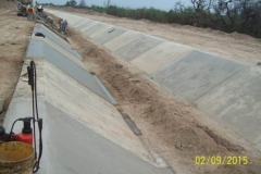 Revestimiento del canal San Martin - etapa de trabajo 9