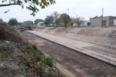 trabajos de revestimiento de solera del canal San Martin 1