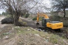trabajos de revestimiento de solera del canal San Martin 11