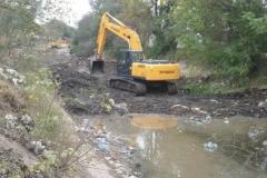 trabajos de revestimiento de solera del canal San Martin 12