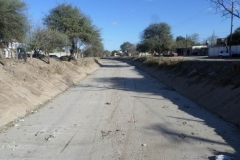 trabajos de revestimiento de solera del canal San Martin 13