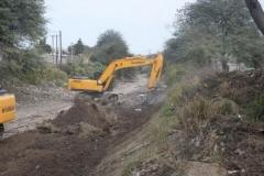trabajos de revestimiento de solera del canal San Martin 8
