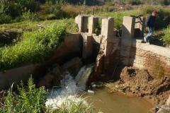 Reconstruccion de obra de arte Canal Norte. 2015. Prog km 16,160. Estado Anterior