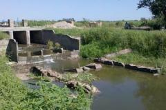 Revestimiento canal sud 2 seccion. 2015. Estado anterior